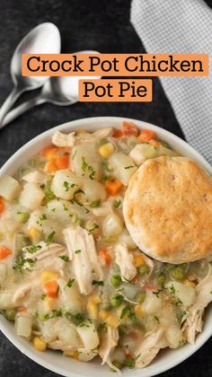 Crock Pot Food, Crock Pot Slow Cooker, Slow Cooker Recipes, Crockpot Recipes, Cooking Recipes, Easy Chicken Pot Pie, Easy Chicken Recipes, Chicken Pot Pie Casserole, Healthy Eating Recipes