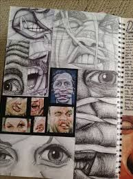 Image result for a level art sketchbook artist research