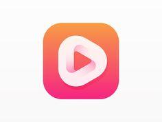 Ideas Music Icon Design Inspiration For 2019 App Icon Design, Web Design, Logo Design Trends, Ui Design Inspiration, Daily Inspiration, Graphic Design, Launcher Icon, Gradient Logo, App Logo