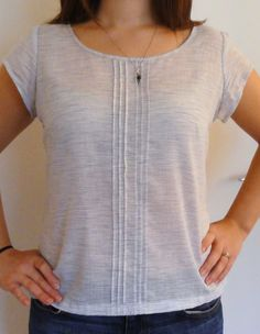 Colette Sorbetto top with pintucks