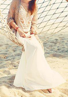 Geometric Embroidery Dress