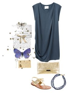 """Blue and gold"" by juliehalloran ❤ liked on Polyvore featuring 3.1 Phillip Lim, Bocage, Kate Spade and Loeffler Randall"