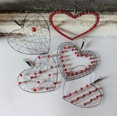 ,,SRDÍČKA ČERVENÁ - AKCE 5+1 ,, / Zboží prodejce AMA | Fler.cz #beadedheart #beadlove #beading #seedbeads #cbloggers #jewelryinspo