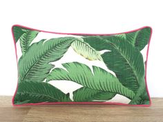 Items similar to Swaying palm leaf pillow cover in outdoor fabric, dark green and coral outdoor cushion, tropical pillow palm leaf, Palm Beach decor on Etsy Outdoor Pillow Covers, Outdoor Cushions, Outdoor Fabric, Indoor Outdoor, Beige Outdoor Furniture, Backyard Furniture, Palm Beach Decor, Tropical Decor, Hollywood Regency Decor