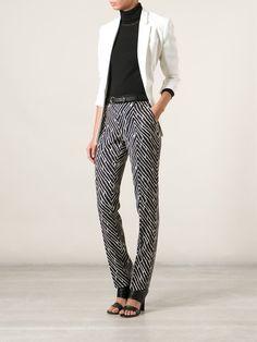 Emanuel Ungaro Printed Slim Trousers - Layers - Farfetch.com