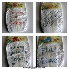 Baby Shower Games: Special Diaper Message You can do this with onesies as well and make it a competition