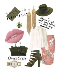 """""""Dealing GREEN"""" by queencryss on Polyvore featuring Yves Saint Laurent, Capwell + Co, Lime Crime, Rolex, Larose, River Island and Somerset by Alice Temperley"""