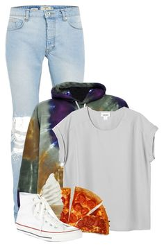 """""""I'm down with that."""" by comickid101 ❤ liked on Polyvore featuring Monki and Converse"""