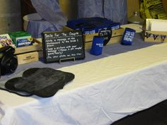 This table housed the guestbook, koozies and card box