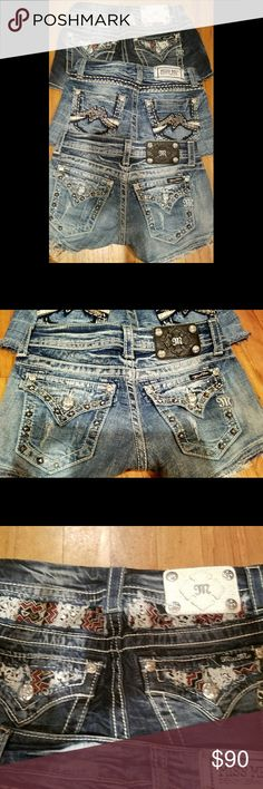 Bundle of 3 pairs of Miss Me shorts/ size 24 3 pair of size Miss Me shorts 2 are marked size 24 one is marked size 25 .... however is the same size as the 24s.  All gorgeous and in great condition, like new! Great quality material and stitching. Very glitzy sexy jean shorts .  plus Victoria's Secret freebies with any purchase from my closet💖💖  $80 a piece on Merc or Pay🅿al $90 thru POSH & if purchasing all three we can make some sort of a bundle deal!! Miss Me Shorts Jean Shorts