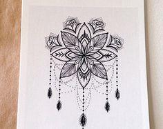 Mandala carte postale - mignons petits caractères de Robin Elizabeth Art
