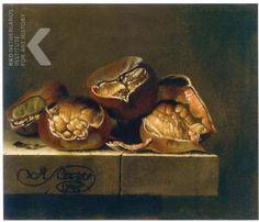 Adriaen Coorte, Still life with chestnuts,  Stilleven van kastanjes op een stenen tafel, 1705 gedateerd https://rkd.nl/explore/images/121771