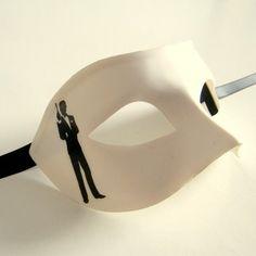 Classic James Bond Male Mens Venetian Masquerade Ball Mask.