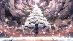 winter christmas trees closed eyes anime girls snowing 1500x844 wallpaper_wallpaperswa.com_83.jpg (600×337)