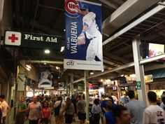 The busy concourse at Wrigley Field