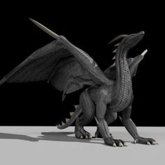 Black Dragon Rigged and Game Ready 3d model free