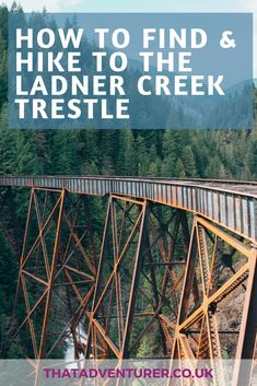 Want to visit one of the old railway trestles in BC? Here's a guide on how to find the Ladner Creek Trestle near Hope complete with a hiking guide. Travel Advice, Travel Guides, Travel Tips, Travel Hacks, Quebec, Montreal, Canadian Travel, Canadian Rockies, Toronto