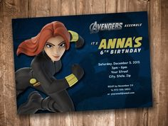 Black Widow Birthday Invitation