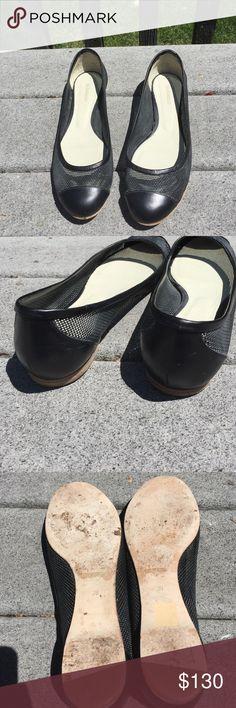 Jil Sander Mesh Flats Mesh Black Flats in good condition. Minor scuffs from wear. Jil Sander Shoes Flats & Loafers