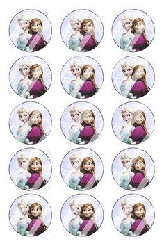 """Disney Frozen Bottle Cap 1"""" Circle Images Sheet #DF29 (digital or pre cut)"""