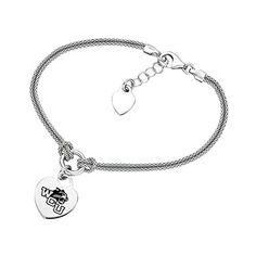 Western Carolina Catamounts Heart Bracelet *** CONTINUE @ http://www.finejewelry4u.com/store/western-carolina-catamounts-heart-bracelet/?c=9064