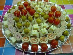 Mi pasión dulce: Rollitos de canapés Fáciles de hacer, con ingredie...
