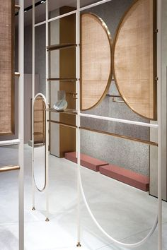 The new Jaspal flagship store in Bangkok by Studiopepe is a 460 sqm retail space that revolves around the neutral tones of powder, concrete, terracotta and rattan. Shop Interior Design, Retail Design, Store Design, Design Shop, Design Design, Inspiration Design, Interior Inspiration, Rattan, Store Window Displays