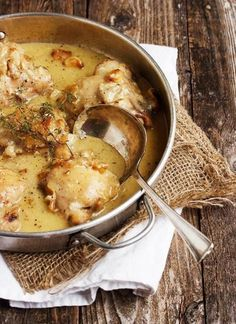 French Canadian Rustic Chicken with Garlic Gravy Recipe