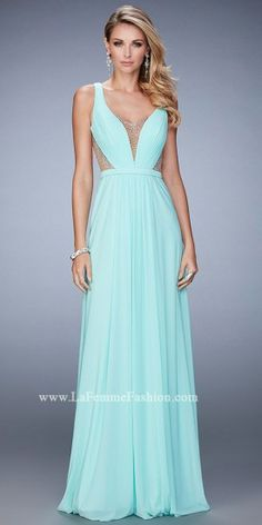 Plunging Beaded Illusion Prom Dress by La Femme #edressme