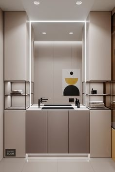 Family Home With Reserved Red & Yellow Accents – Badezimmer einrichtung Bathroom Storage, Small Bathroom, Bathrooms, Master Bathroom, Bathroom Organization, Ideas Baños, Glamorous Bathroom, Toilet Design, Bath Design