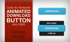 Awesome animated download button