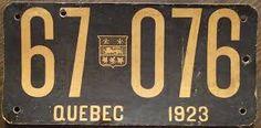 Résultats de recherche d'images pour « old quebec license plates