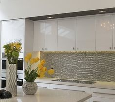 Five Ways to Keep a White-on-White Modern Kitchen Warm | Maria Killam | True Colour Expert | Decorator