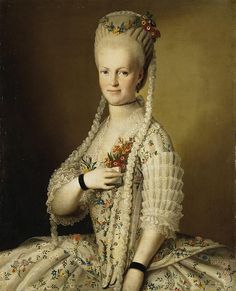 Portrait of Sarah Greig 1770s by Christineck