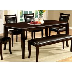Clemmine Contemporary Espresso (Brown) Dining Table by FOA, Furniture of America Dining Table Price, Dining Room Bar, Modern Dining Table, Best Dining, Small Dining, Extendable Dining Table, Dining Area, Furniture Deals, Bar Furniture