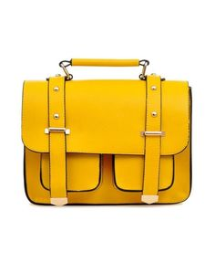 Yellow satchel. This is what my dream bag looks like