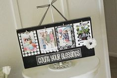 Count your blessing board from Lil Luna #Christmas #Keepsakes