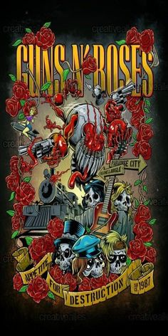 Guns n roses print by vectorio Rock Band Posters, Rock Band Logos, Guns And Roses, Rock And Roll Bands, Rock N Roll, Hard Rock, Band Wallpapers, Heavy Metal Rock, Rose Art