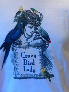Crazy Bird Lady long sleeve tshirt by CherAmiShop on Etsy