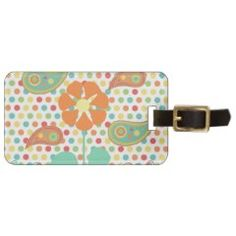 Flower Polka Dots Paisley Spring Whimsical Gifts Luggage Tags