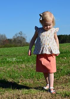 Oliver + S: Butterfly Blouse and SkirtFrances Suzanne