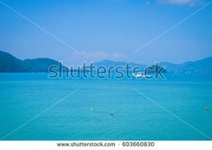 seascape and boats near the beach Thailand. Panwa Bay Phuket.