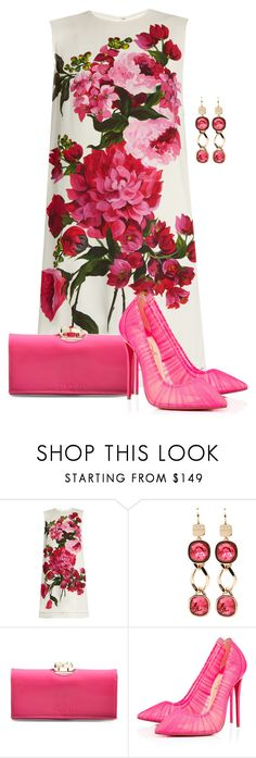 """""""Flowers"""" by cris-1121 ❤ liked on Polyvore featuring Dolce&Gabbana, Rebecca, Ted Baker and Christian Louboutin"""