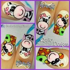 Uñitas Hot Nail Designs, Nail Art Designs Videos, Nail Art Videos, La Nails, Manicure And Pedicure, Finger, Learn Art, Birthday Nails, Nail Art Hacks