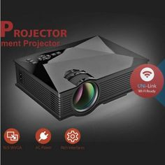 Original Unic UC46 LED Mini Projector Full HD 1080P 3D support mini projector with WIFI connection projector UC46