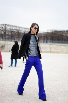 Cobalt pants. #styleeveryday