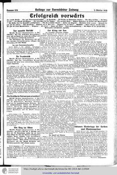 Darmstädter Zeitung: amtliches Organ der Hessischen Landesregierung (1914, Vol. 2) (Darmstadt, 1914) Erfolgreich vorwärts