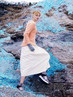 visual optimism; fashion editorials, shows, campaigns & more!: puur pastel: elza luijendijk by jasper abels for glamour netherlands october 2014