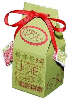 Comme promis, voici la fiche technique pour réaliser une boîte cadeau ou à chocolats pour noël que le principe des boites à lait américaine. Cette boîte est réalisée à partir d'une feuille A4 et mesure 6 cm de côté dans mon exemple mais peut être réalisée...