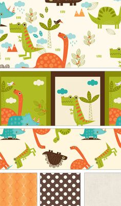 Dinosaur by RBD Designers for Riley Blake Designs #dinosaur #rileyblakedesigns